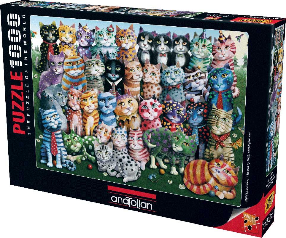 Puzzle Anatolian Reunión Familiar de Gatos de 1000 Piezas