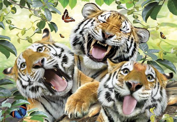 Puzzle Anatolian Selfie de Tigres de 260 Piezas