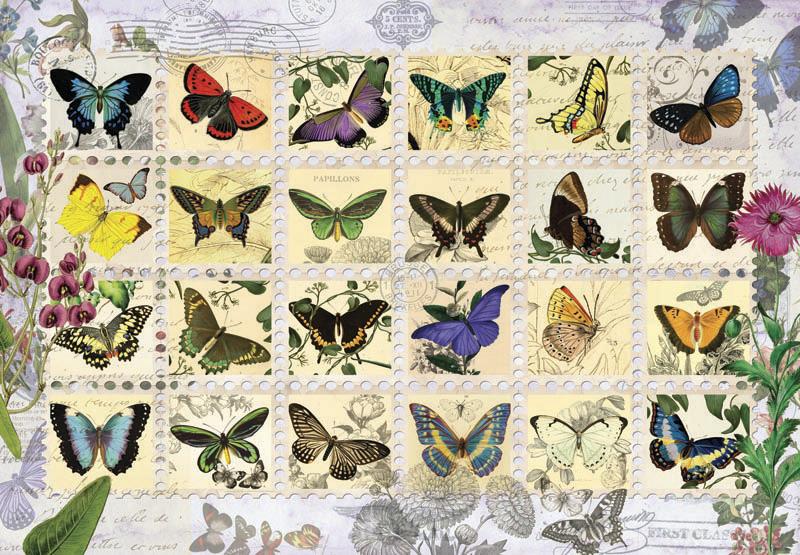 Puzzle Anatolian Sellos de Mariposas de 500 Piezas