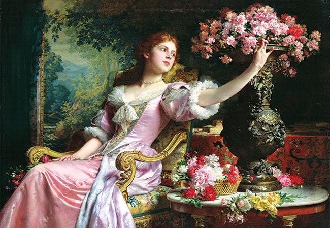 Puzzle Anatolian Señora con Flores de 2000 Piezas