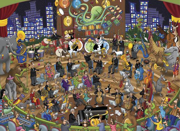 Puzzle Anatolian Simpática Orquesta de 1000 Piezas