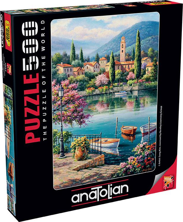 Puzzle Anatolian Tarde en el Lago del Pueblo de 500 Piezas