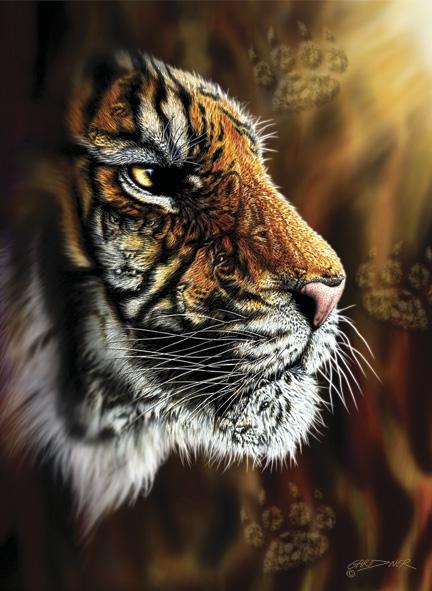 Puzzle Anatolian Tigre Salvaje de 1000 Piezas