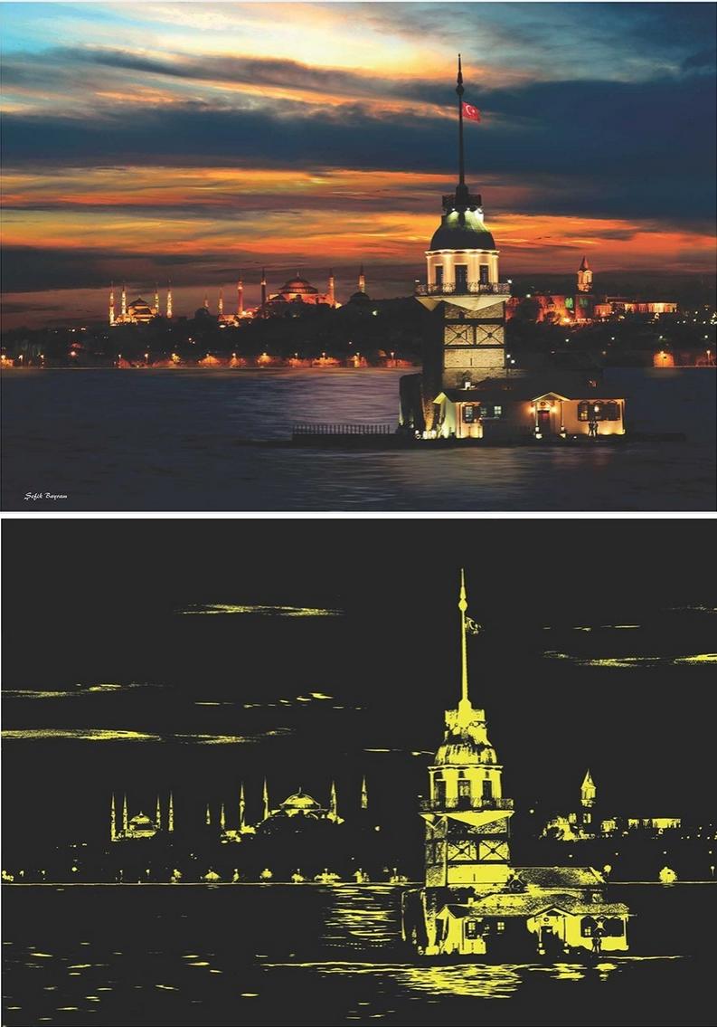 Puzzle Anatolian Torre de la Doncella, Estambul, Turquía de 1000