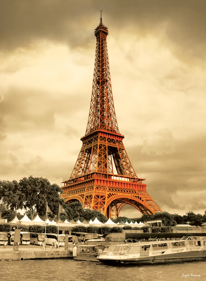 Puzzle Anatolian Torre Eiffel desde el Sena de 1000 Piezas
