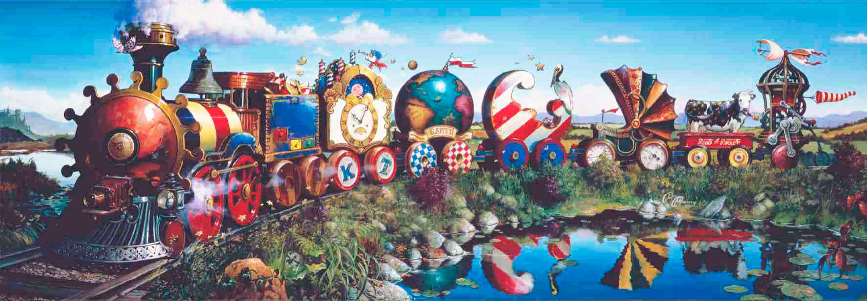Puzzle Anatolian Tren de las Histórias de 1000 Piezas