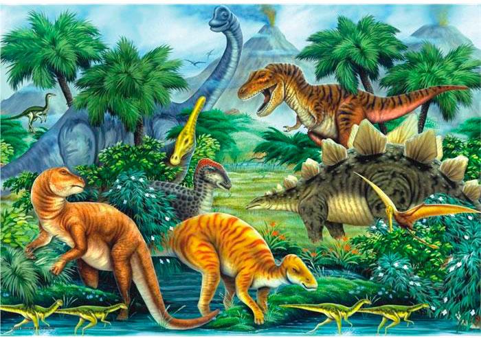 Puzzle Anatolian Valle de los Dinosaurios de 260 Piezas