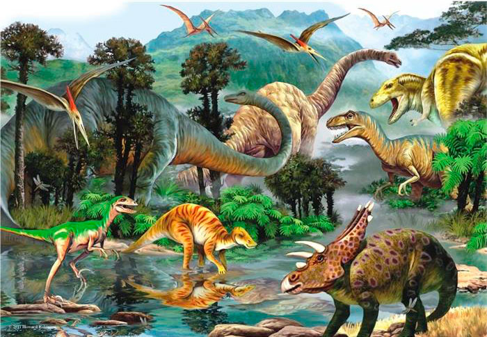 Puzzle Anatolian Valle Encantado de Dinosaurios de 260 Piezas