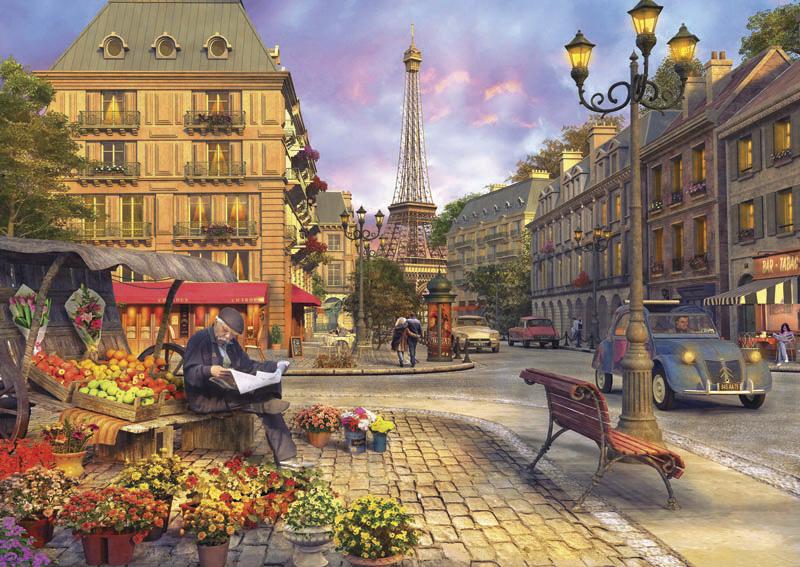 Puzzle Anatolian Vida en una Calle de París de 1500 Piezas