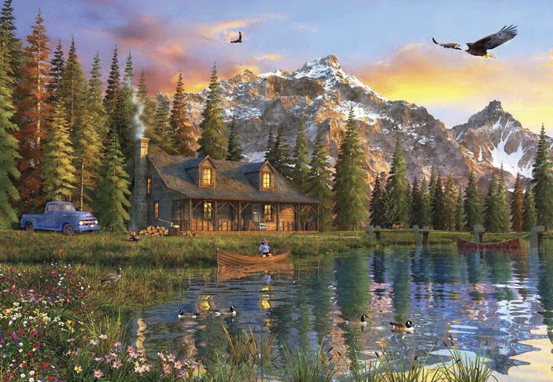 Puzzle Anatolian Vieja Cabaña de Montaña de 2000 Piezas