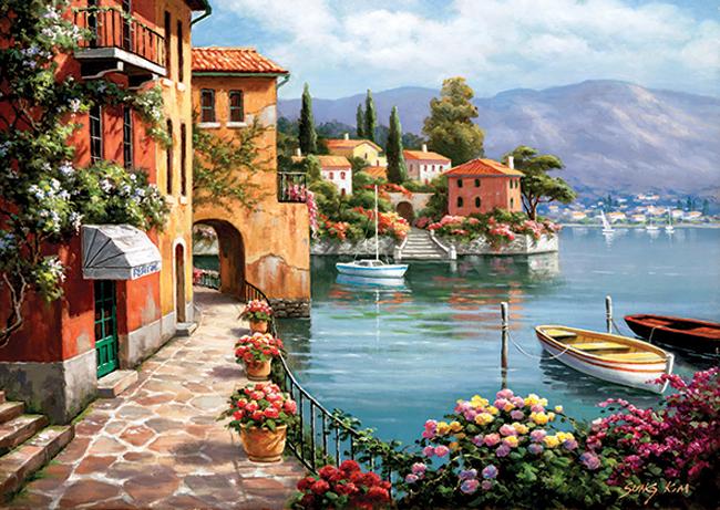 Puzzle Anatolian Villa De Lago de 1500 Piezas