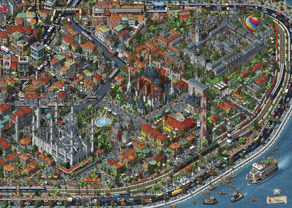 Puzzle Anatolian Vista Aérea de Estambul de 3000 Piezas