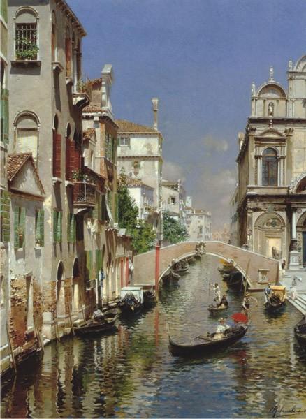 Puzzle Anatolian Vista del Canal. Venecia de 1000 Piezas