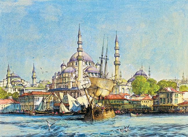Puzzle Anatolian Yeni Jami y St. Sophia de 1000 Piezas