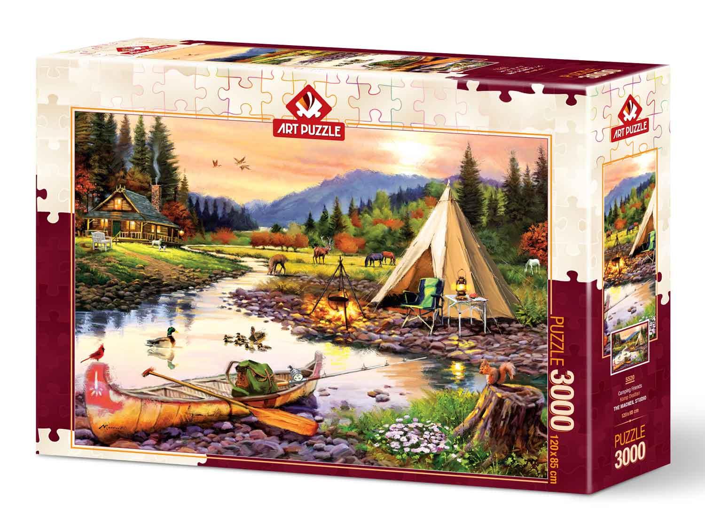 Puzzle Art Puzzle Amigos de Camping de 3000 Piezas