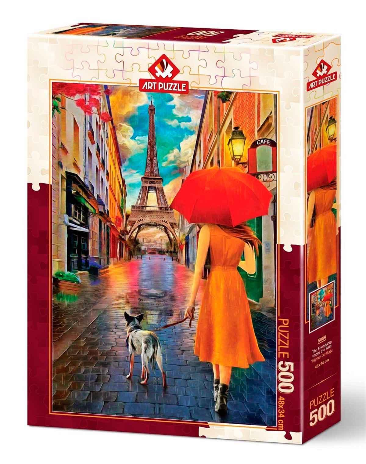 Puzzle Art Puzzle Amistad Bajo la Lluvia de 500 Piezas