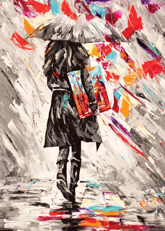 Puzzle Art Puzzle Arte Sobre el Paraguas de 500 Piezas