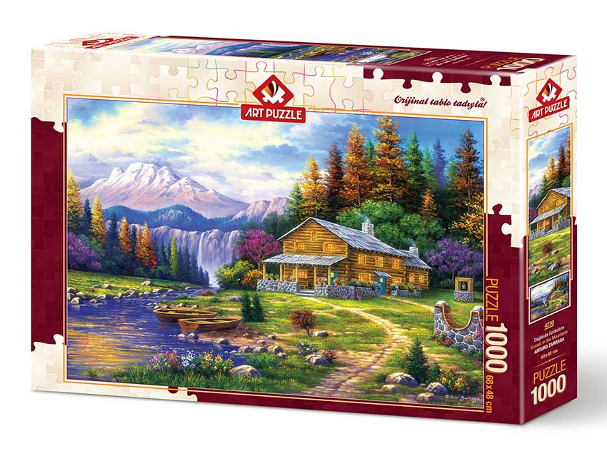 Puzzle Art Puzzle Atardecer en las Montañas de 1000 Piezas