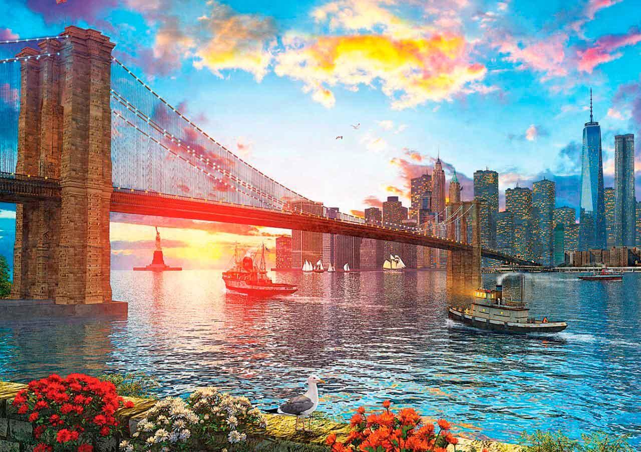 Puzzle Art Puzzle Atardecer en Nueva York de 1000 Piezas