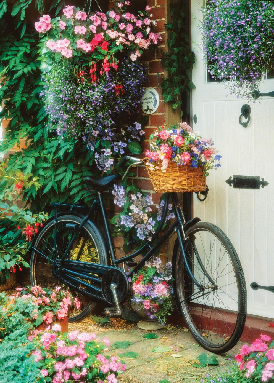 Puzzle Art Puzzle Bicicleta Floral de 500 Piezas
