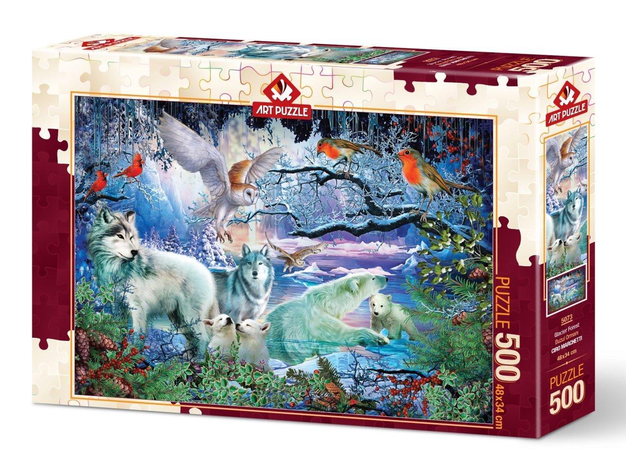 Puzzle Art Puzzle Bosque Glaciar de 500 Piezas