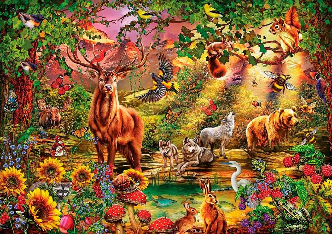 Puzzle Art Puzzle Bosque Mágico de 1000 Piezas