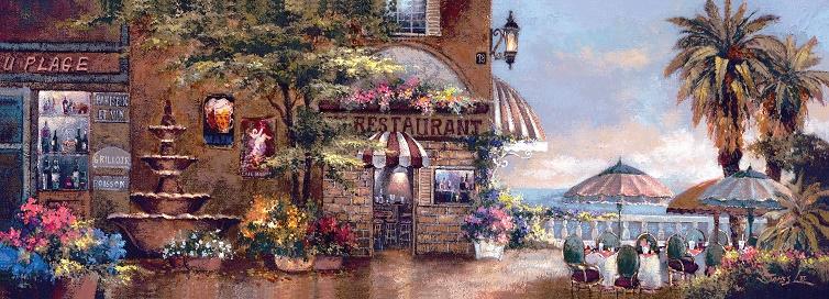 Puzzle Art Puzzle Café en el Paseo II de 1000 Piezas