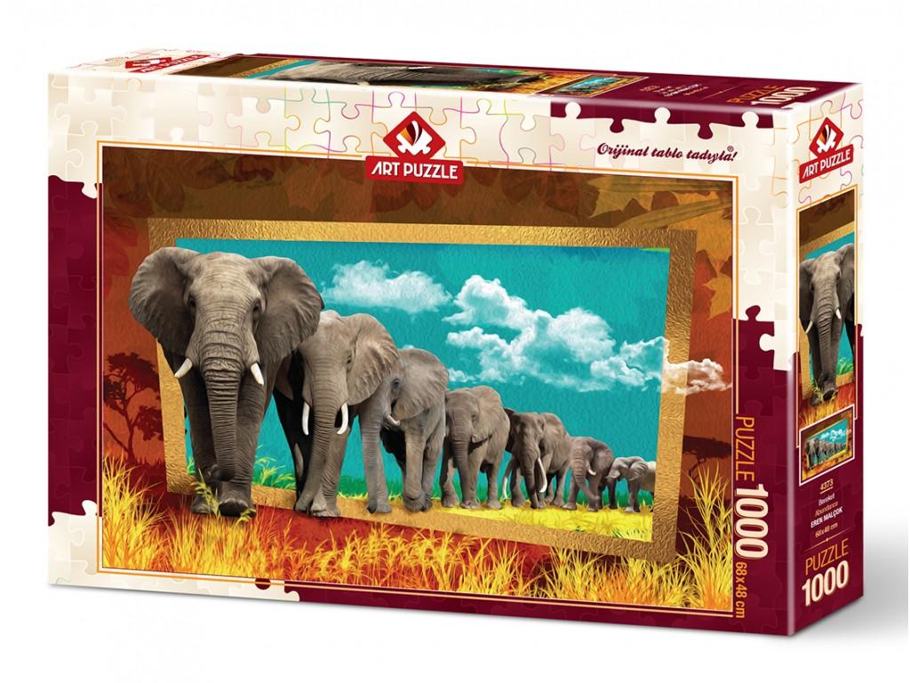 Puzzle Art Puzzle Camino de Elefantes 1000 Piezas