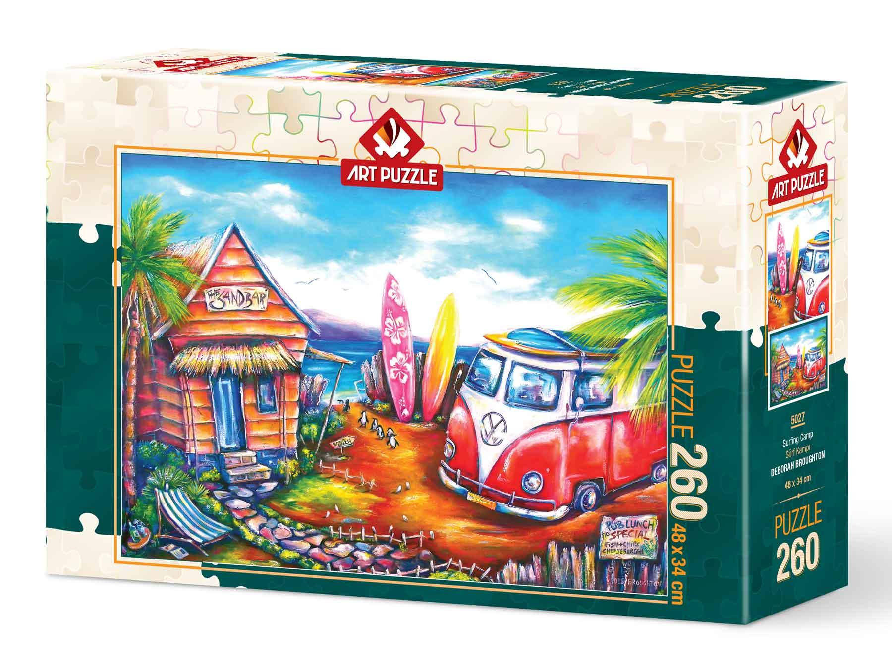 Puzzle Art Puzzle Campamento Surfero de 260 Piezas