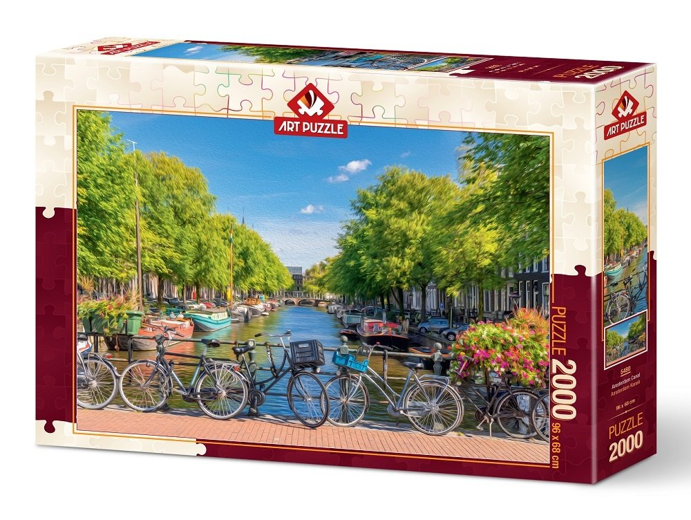 Puzzle Art Puzzle Canal de Amsterdam de 2000 Piezas