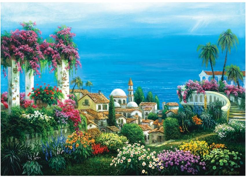 Puzzle Art Puzzle Casa de Campo a Orillas del Lago 3000 Piezas