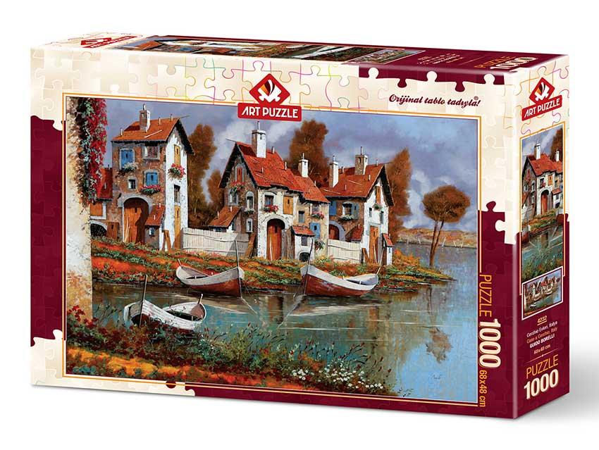 Puzzle Art Puzzle Casa en Cerchio, Italia de 1000 Piezas