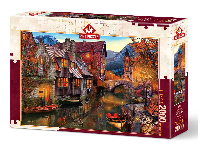 Puzzle Art Puzzle Casas en el Canal de 2000 Piezas