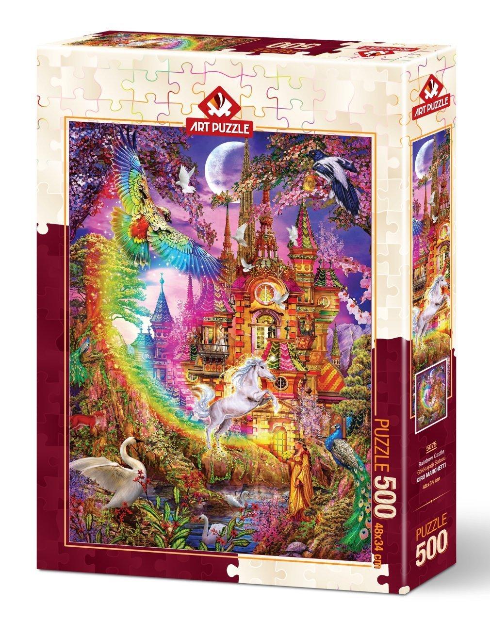 Puzzle Art Puzzle Castillo Arcoiris de 500 Piezas