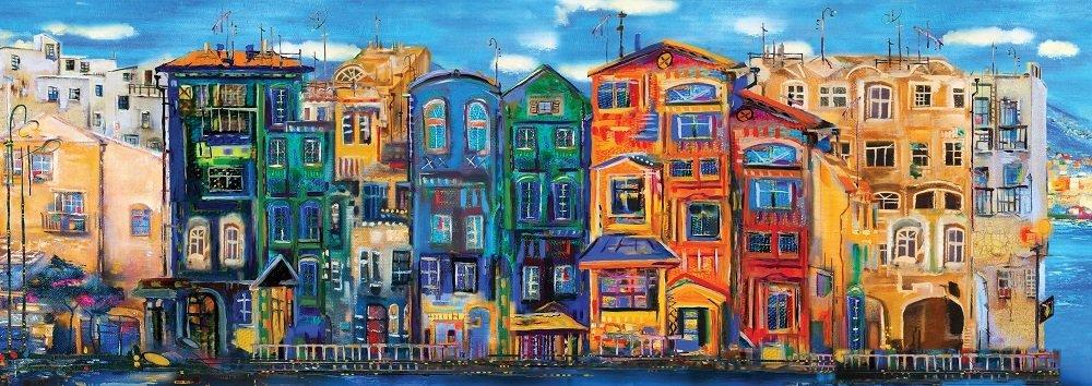 Puzzle Art Puzzle Ciudad Colorida Panorámico de 1000 Pzs