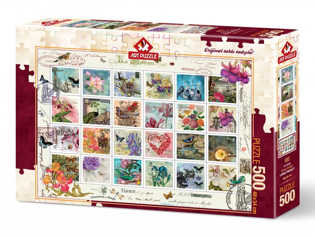 Puzzle Art Puzzle Colección de Sellos de 500 Piezas