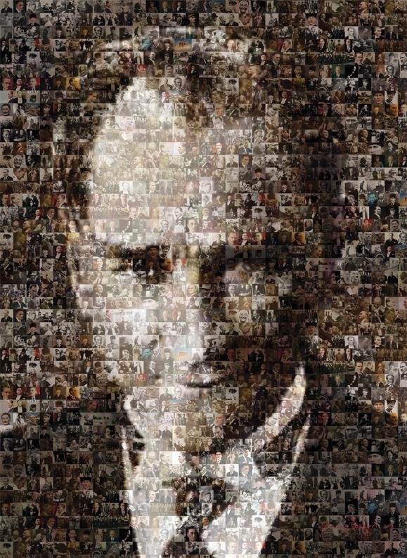 Puzzle Art Puzzle Collage de Mustafa Kemal Ataturk de 1000 Pieza