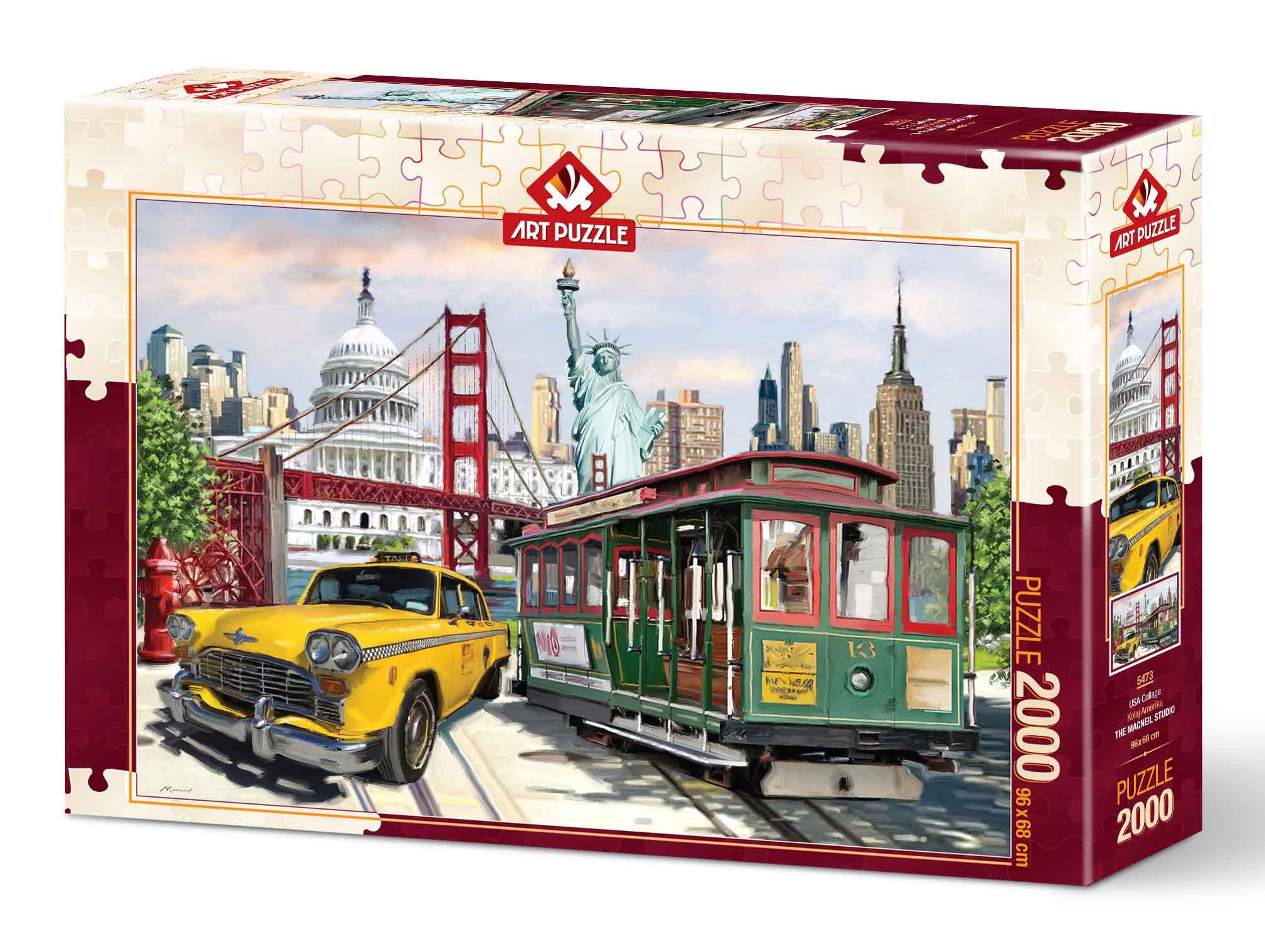 Puzzle Art Puzzle Collage USA de 2000 Piezas