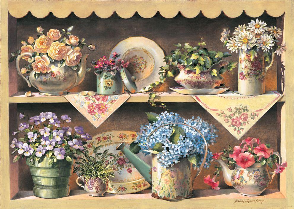 Puzzle Art Puzzle de Madera Jardin en el Armario de 1000 Piezas