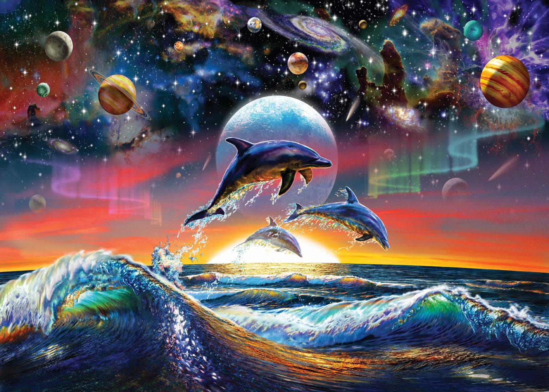 Puzzle Art Puzzle Delfines Universales de 500 Piezas