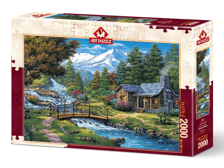 Puzzle Art Puzzle Dos Cascadas de 2000 Piezas