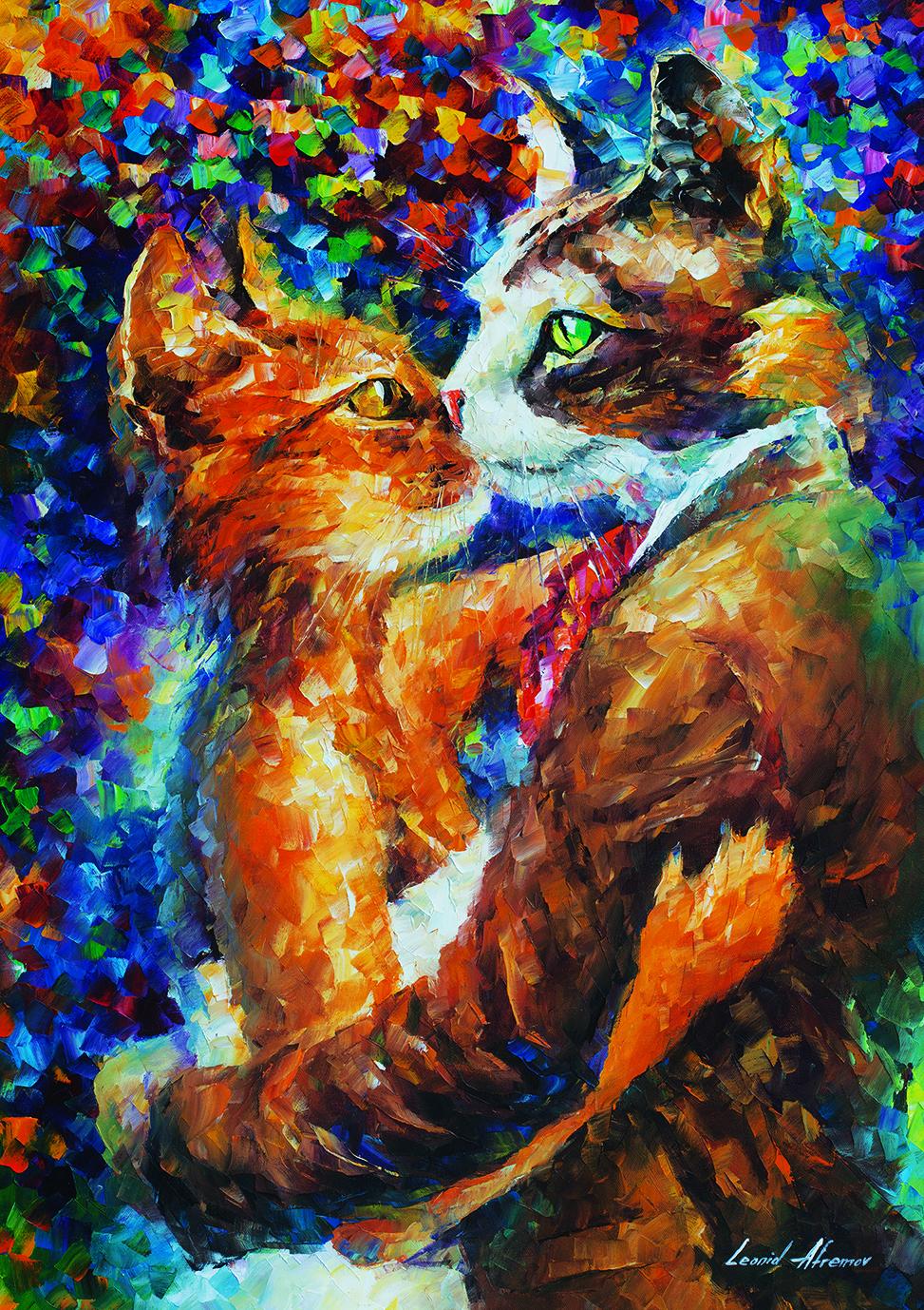 Puzzle Art Puzzle El Baile del Amor de los Gatos de 1000 Piezas