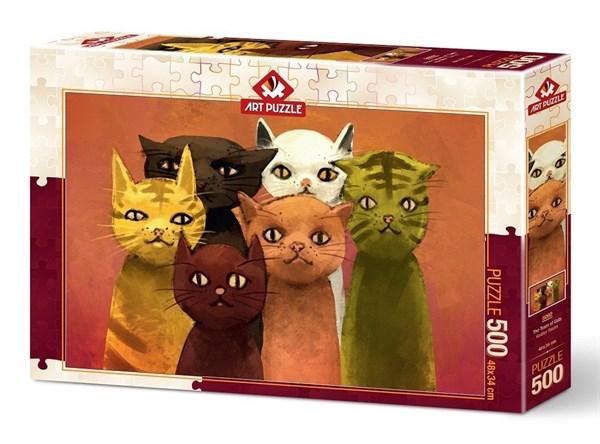 Puzzle Art Puzzle El Equipo de Gatos de 500 Piezas
