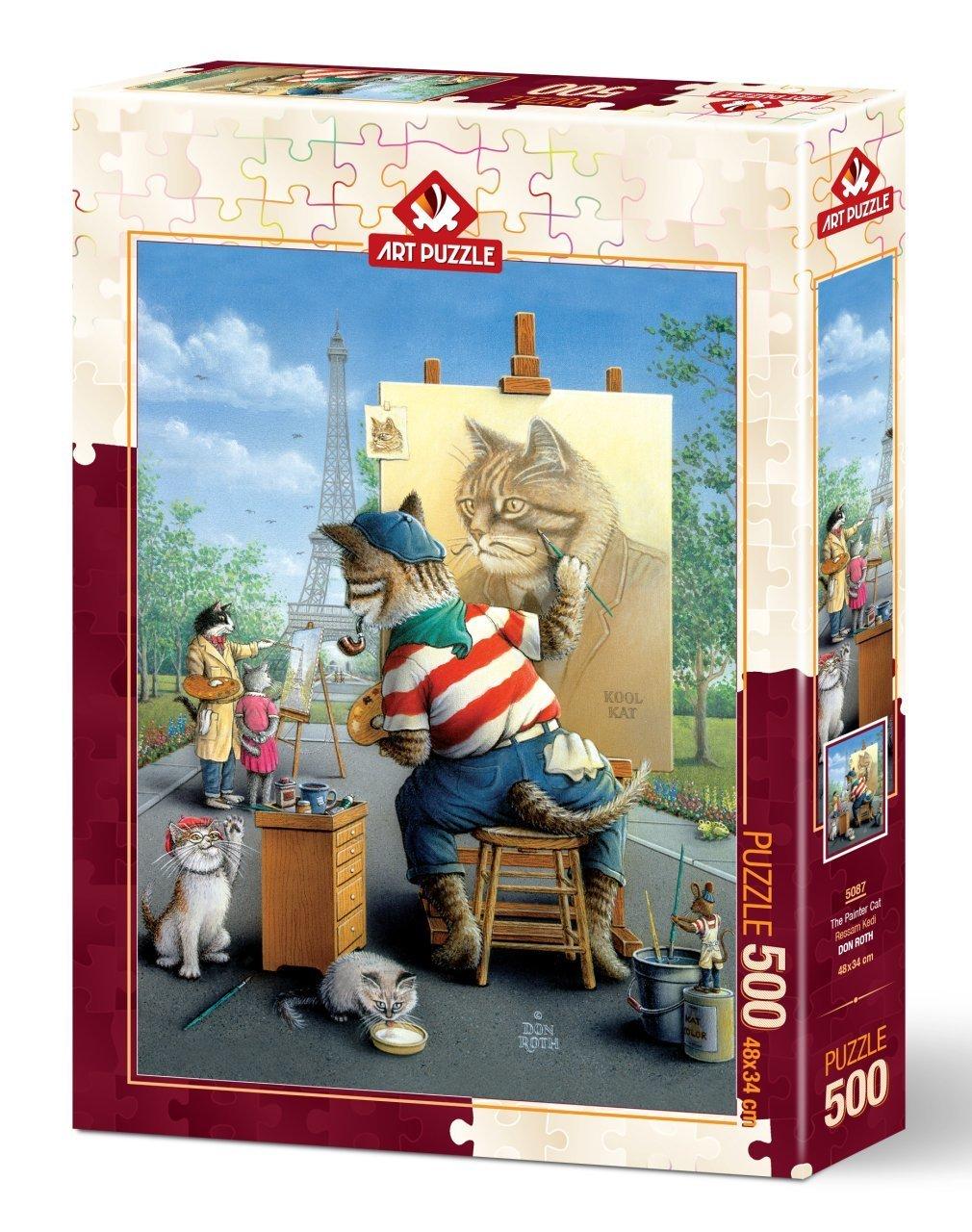 Puzzle Art Puzzle El Gato Pintor de 500 Piezas