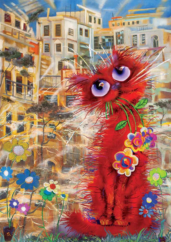 Puzzle Art Puzzle El Gato Rojo de 260 Piezas