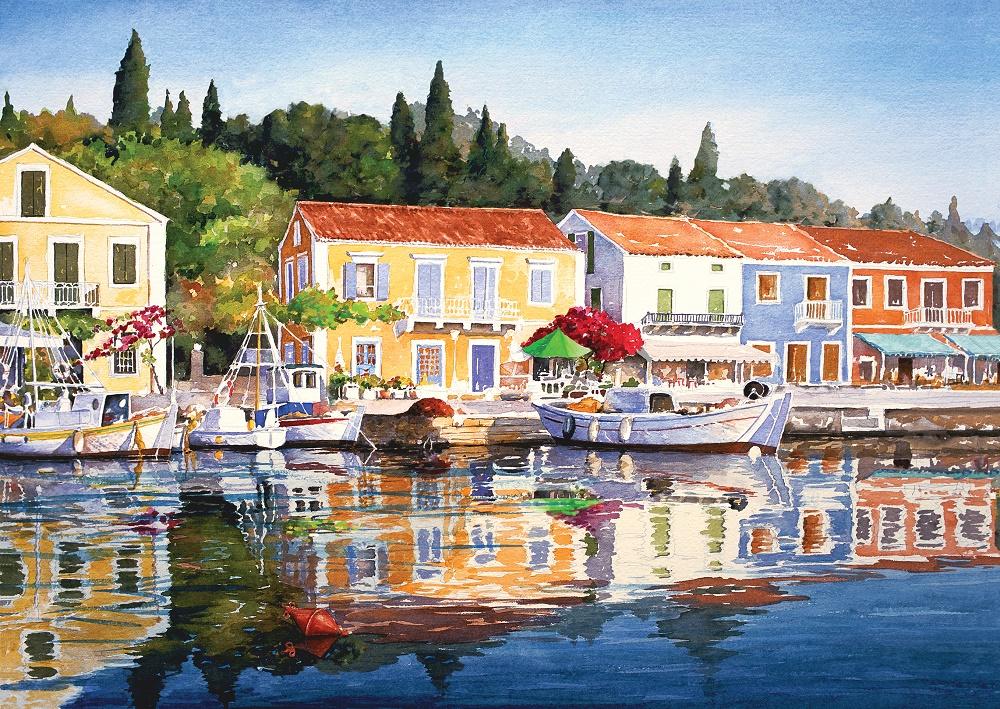 Puzzle Art Puzzle El Puerto de Grecia de 1000 Piezas