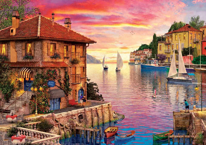 Puzzle Art Puzzle El Puerto Mediterráneo de 1500 Piezas