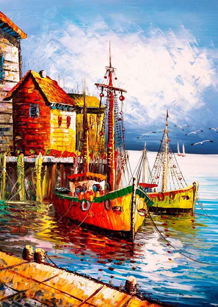 Puzzle Art Puzzle El Puerto Naranja de 500 Piezas