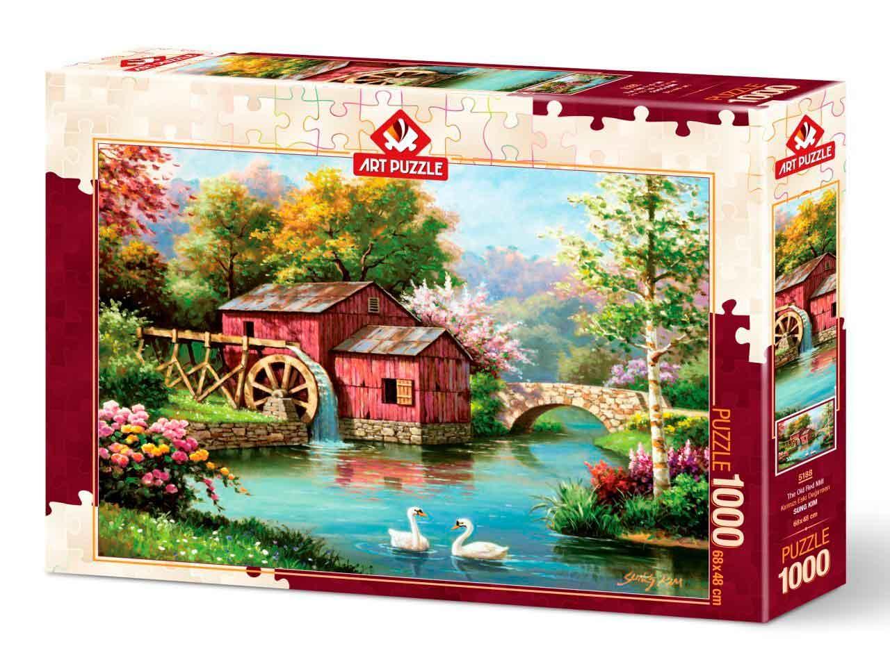 Puzzle Art Puzzle El Viejo Molino Rojo de 1000 Piezas
