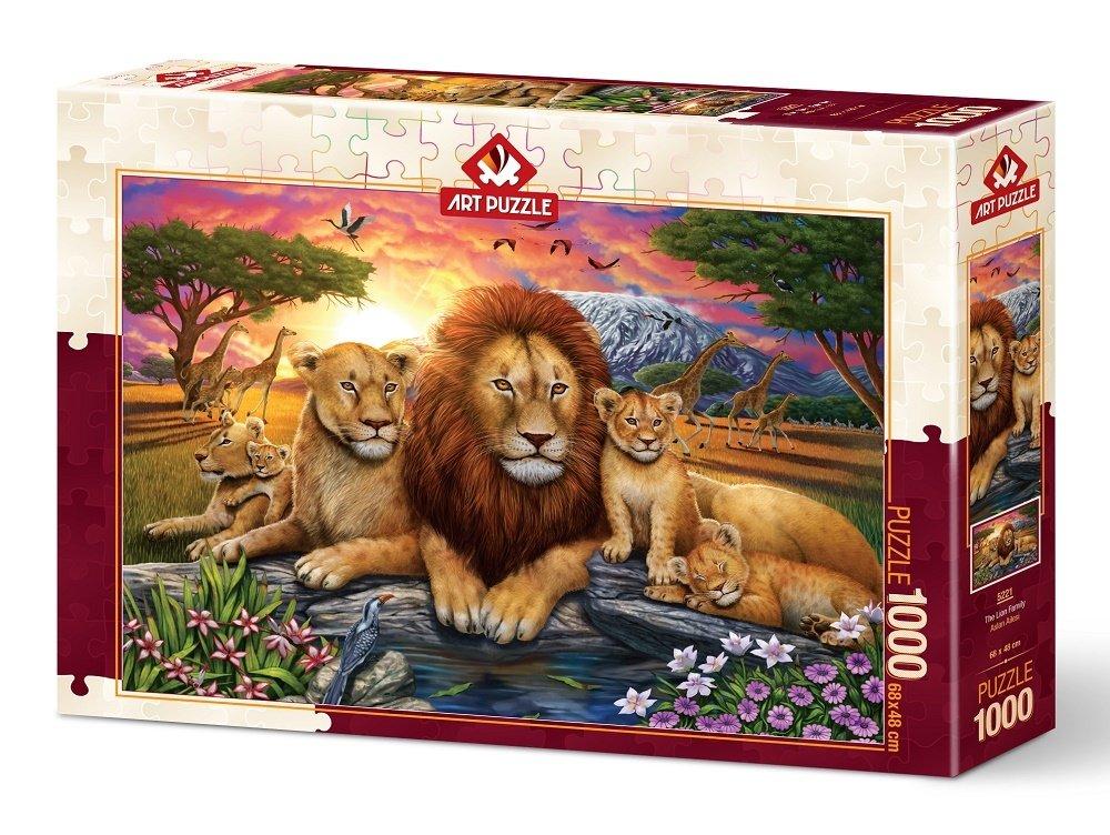 Puzzle Art Puzzle Familia de Leones de 1000 Piezas